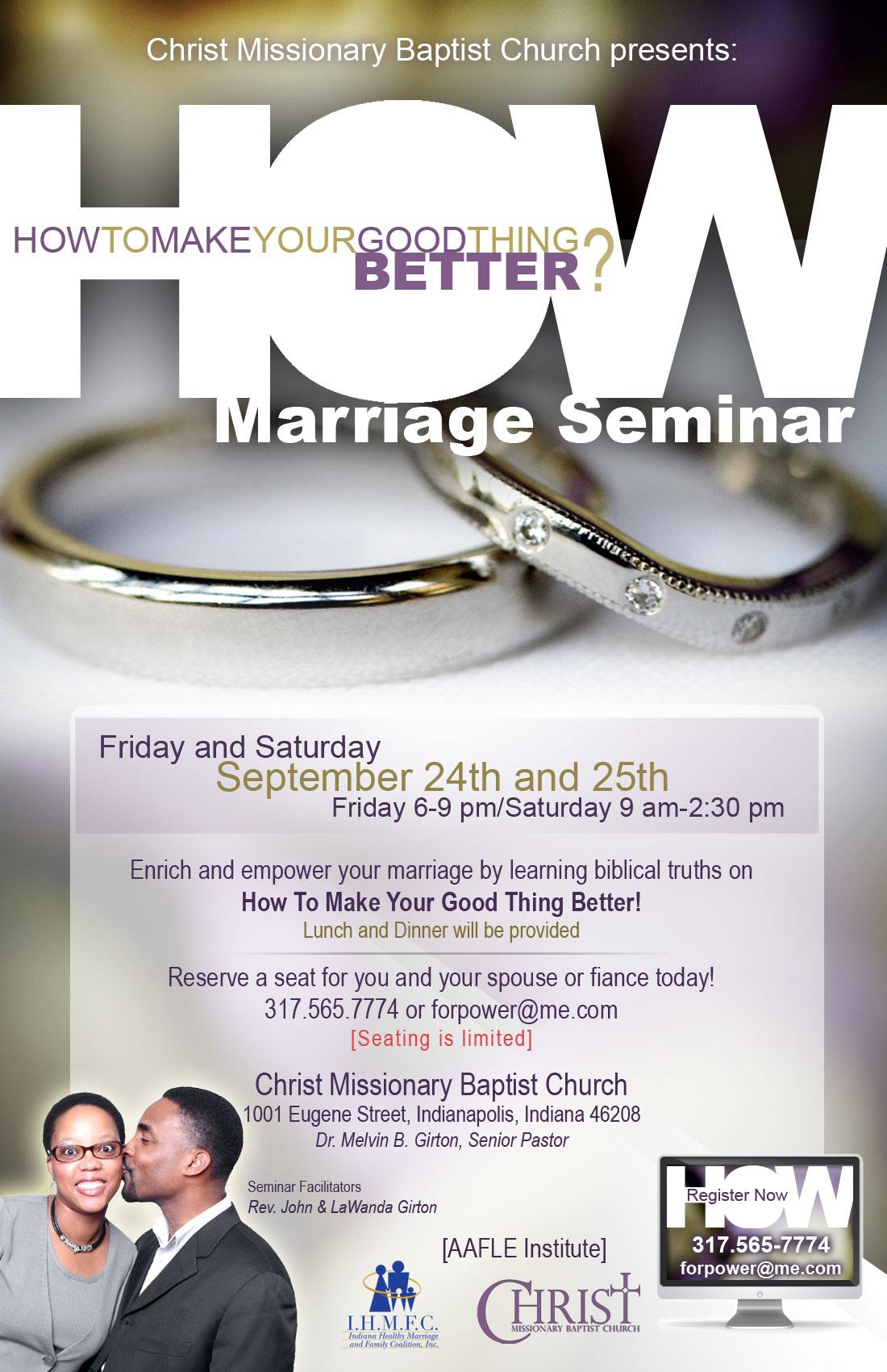 HOW: Marriage Seminar Marketing : johngirton.me